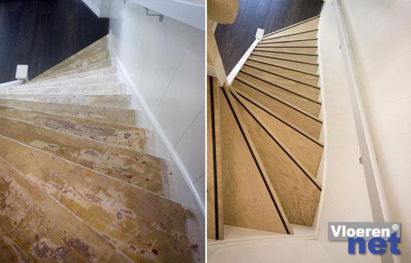 Traprenovatie vloeren net alles over vloeren for Dikte traptreden hout